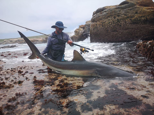 Duvan van Breda with a bronzie caught on T-Line